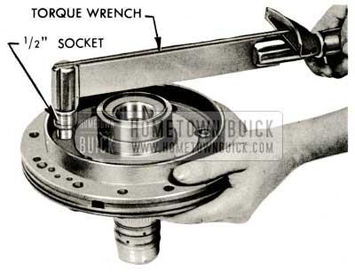 1959 Buick Triple Turbine Transmission - Install Shaft Flange to Pump Body Bolts