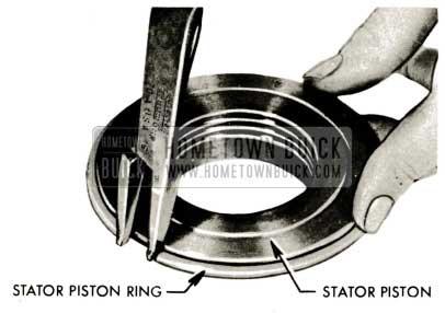 1959 Buick Triple Turbine Transmission - Install Stator Piston Ring