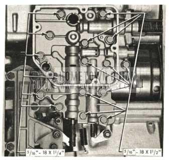 1959 Buick Triple Turbine Transmission - Installation of Valve Body Assembly