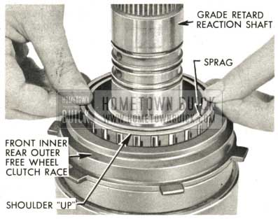 1959 Buick Triple Turbine Transmission - Lubricate Rear Free Wheel Clutch Sprag
