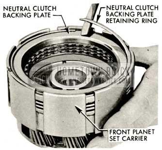 1959 Buick Triple Turbine Transmission - Neutral Clutch Backing Plate