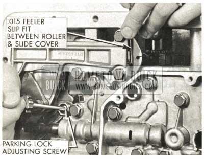 1959 Buick Triple Turbine Transmission - Parking Lock Adjustment