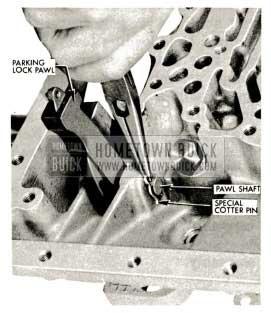 1959 Buick Triple Turbine Transmission - Parking Lock Pawl Removal
