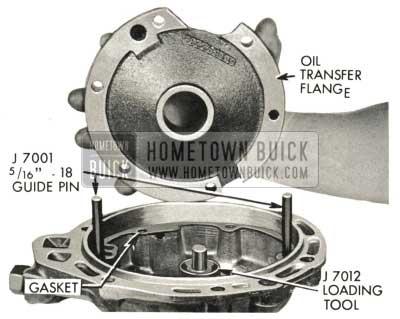 1959 Buick Triple Turbine Transmission - Remove End Play Gage Setup