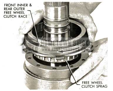 1959 Buick Triple Turbine Transmission - Remove Free Wheel Clutch Sprag