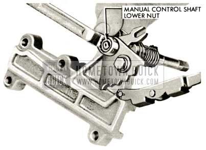 1959 Buick Triple Turbine Transmission - Remove Manual Control Shaft