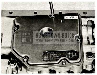 1959 Buick Triple Turbine Transmission - Remove Oil Screen