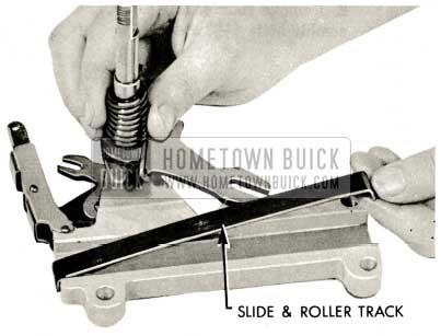 1959 Buick Triple Turbine Transmission - Remove Slide and Roller Track