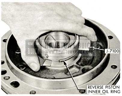 1959 Buick Triple Turbine Transmission - Reverse Piston Inner Oil Ring Installation