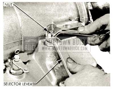 1959 Buick Triple Turbine Transmission - Selector Lever Shaft Nut