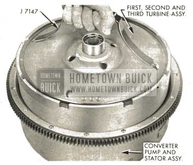 1959 Buick Triple Turbine Transmission - Set First, Second and Third Turbine Assembly