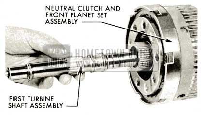 1959 Buick Triple Turbine Transmission - Slide First Turbine Shaft
