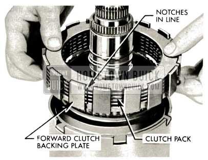 1959 Buick Triple Turbine Transmission - Slide Forward Clutch Backing Plate