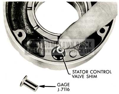 1959 Buick Triple Turbine Transmission - Stator Control Valve Shim