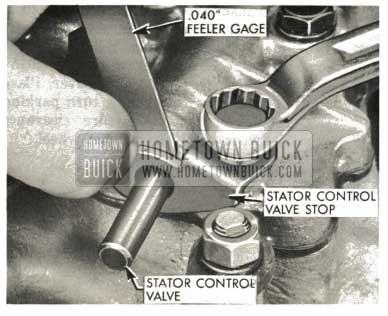 1959 Buick Triple Turbine Transmission - Stator Valve Stop Adjustment