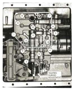1959 Buick Triple Turbine Transmission - Tighten Valve Body Bolts