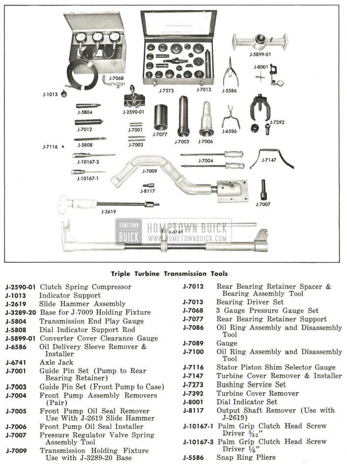 1959 Buick Triple Turbine Transmission Tools