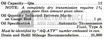 1959 Buick Twin Turbine Transmission Specifications