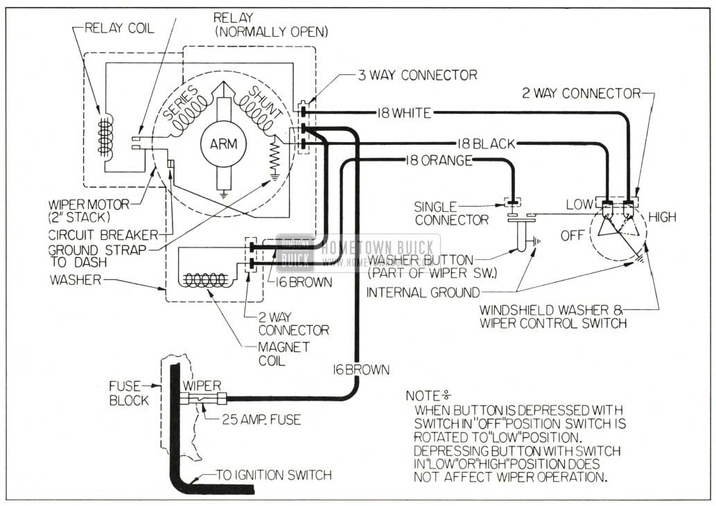 wiper washer wiring diagram