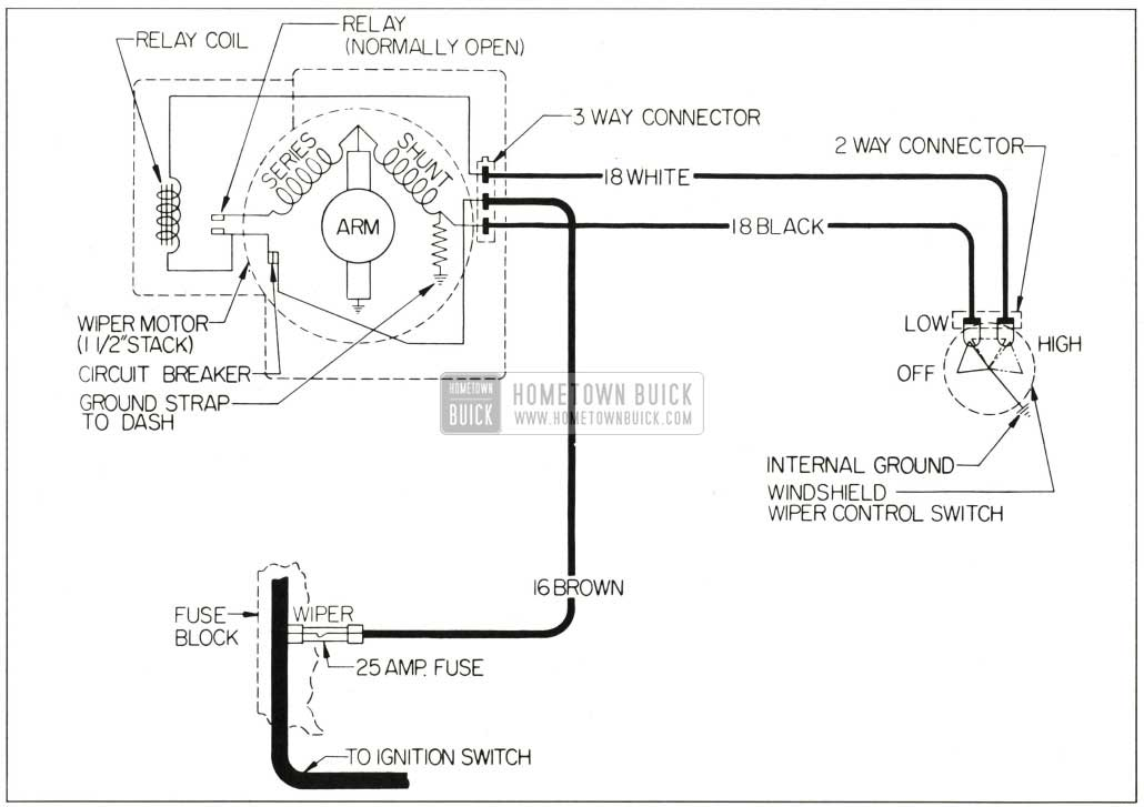 buick wiper motor wiring diagram