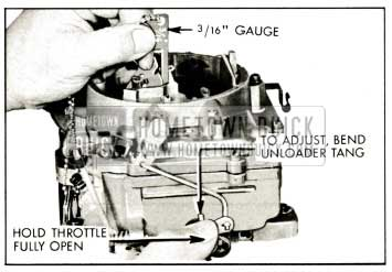 1959 Buick Unloader Adjustment