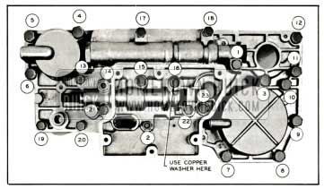 1959 Buick Valve and Servo Body Bolt Tightening Sequence