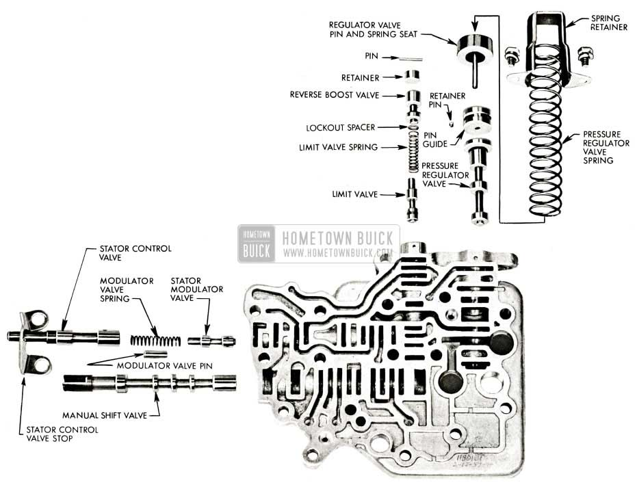 1959 Buick View of Valve Body Disassembled