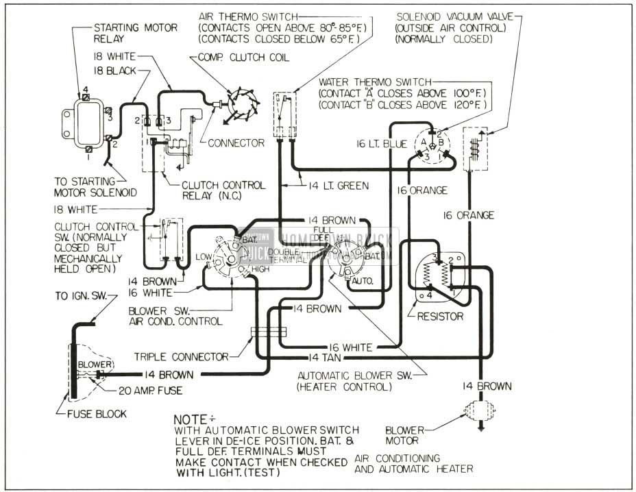 1959 buick heater and air conditioner - hometown buick ford ac heater wiring diagram ac heater wire schematcs