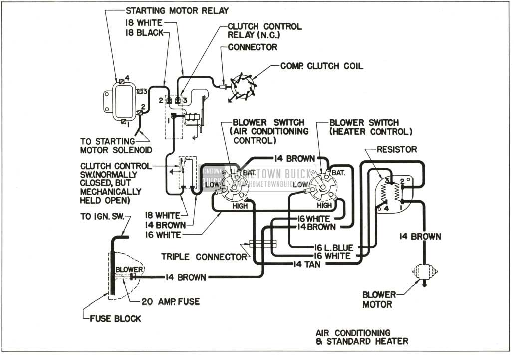 for an ac heater wiring diagram 1959 buick heater and air conditioner - hometown buick for an am radio wiring diagram
