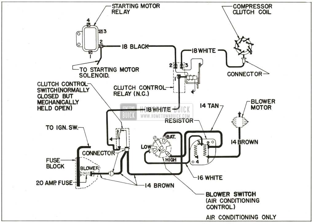 1959 buick heater and air conditioner hometown buick Hydraulic Brake Schematic 1959 buick wiring diagram air conditioner