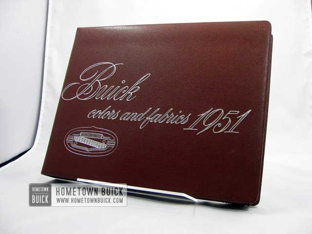 1951 Buick Colors and Fabrics Book
