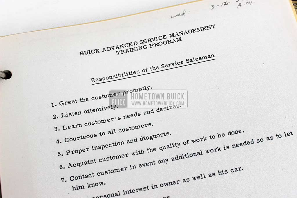 1950 Buick Advanced Service Management Book 13
