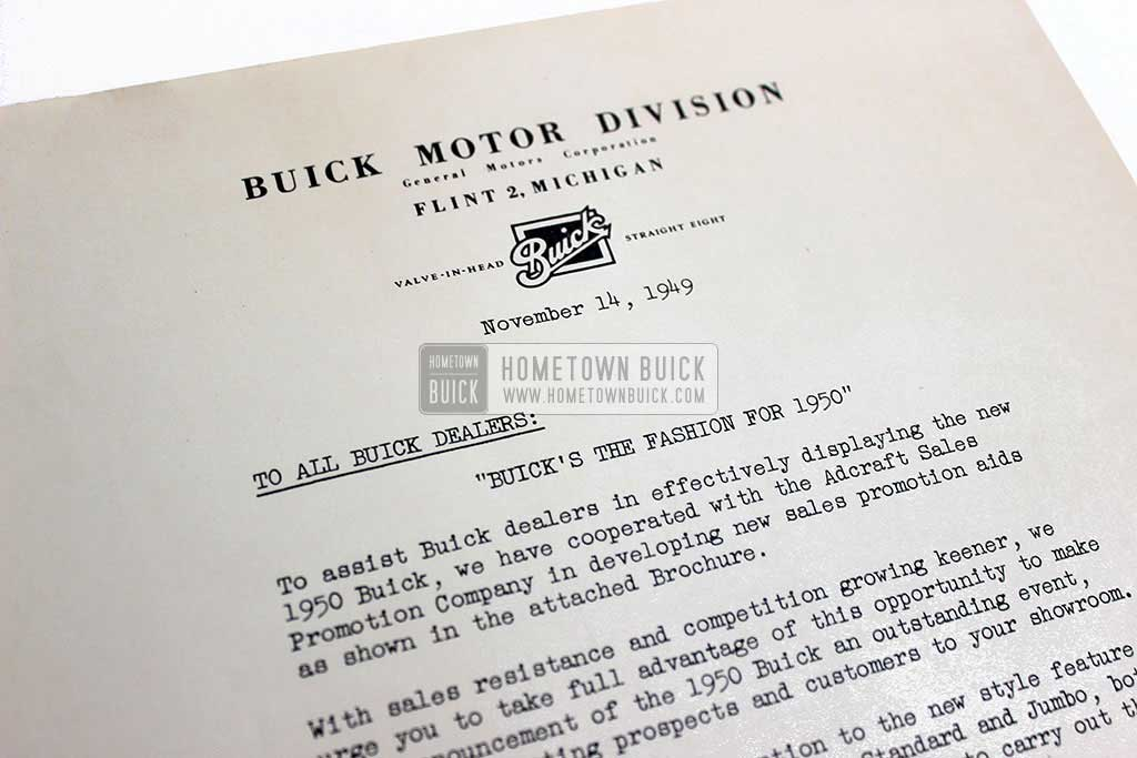 1950 Buick Announcement Material Brochure 09