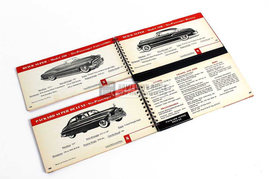 1950 Buick Match Book 12