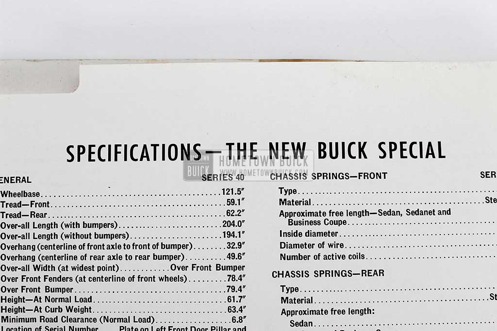 1950 Buick Special Selling Points Book 12