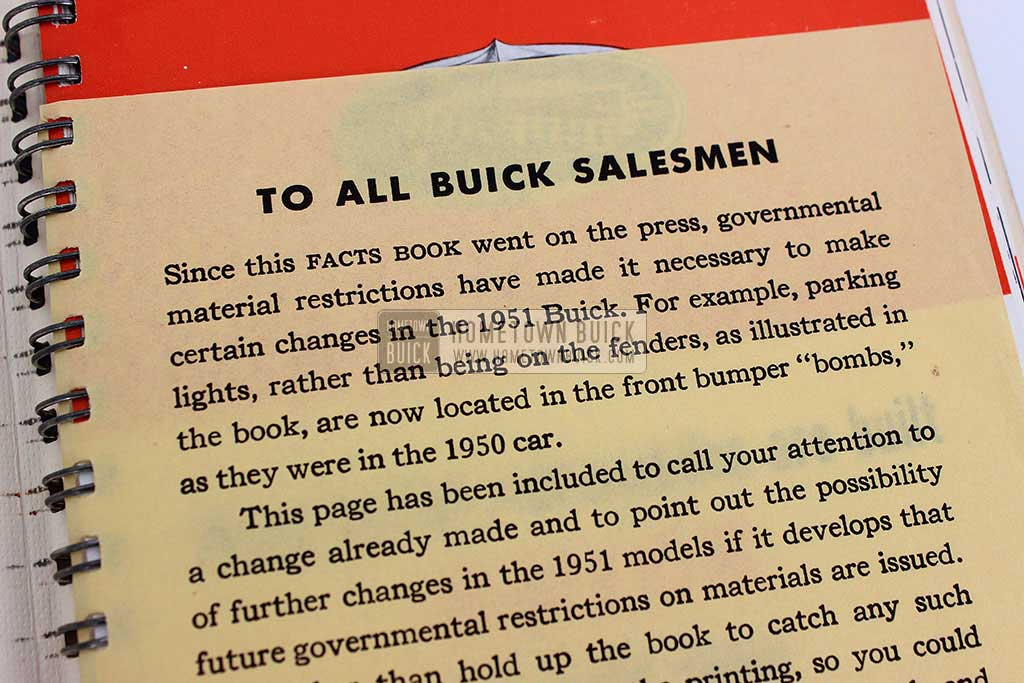 1951 Buick Dealer Facts Book 04