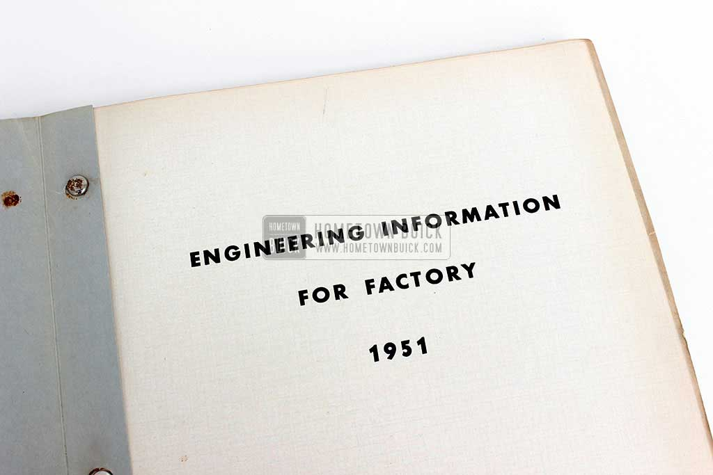 1951 Buick Factory Information Book 04