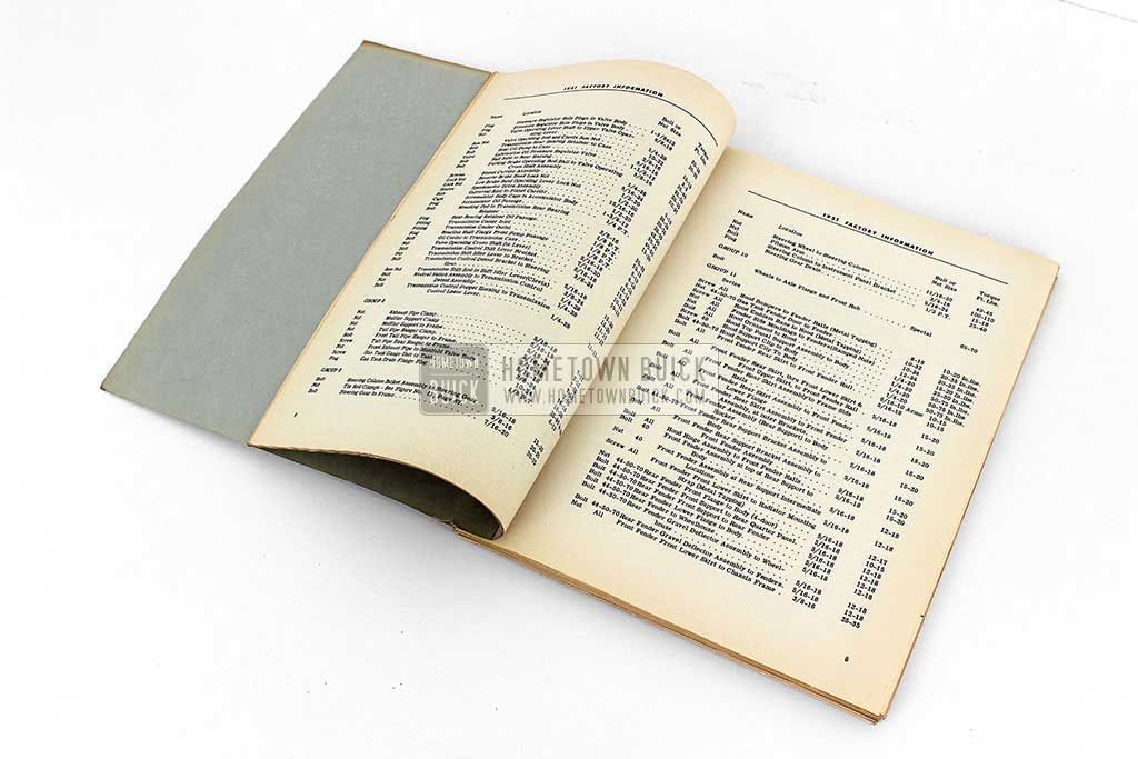 1951 Buick Factory Information Book 06