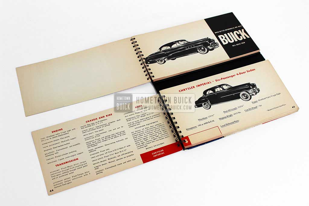 1951 Buick Match Book 05