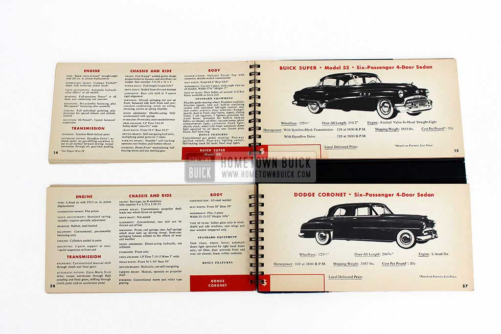1951 Buick Match Book 06