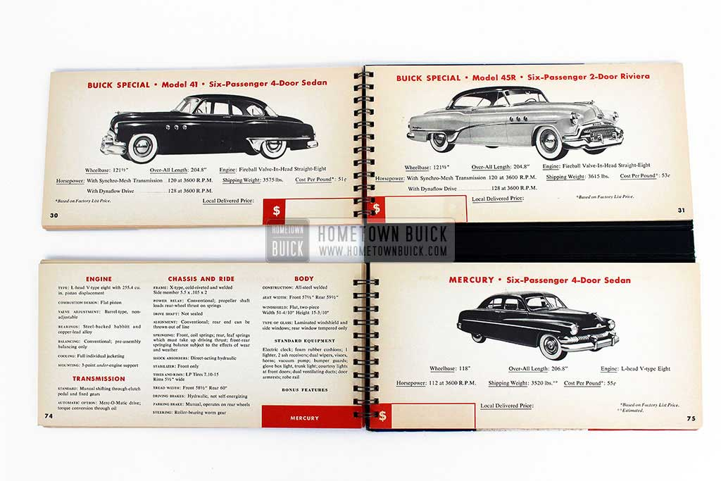 1951 Buick Match Book 10