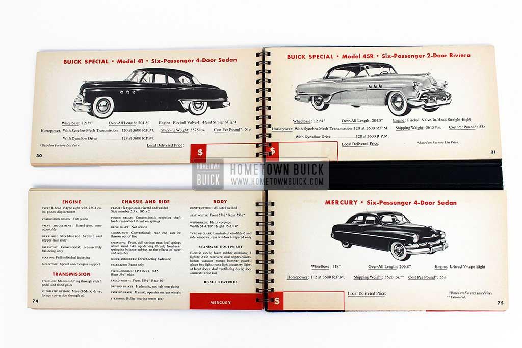 1951 Buick Match Book 10