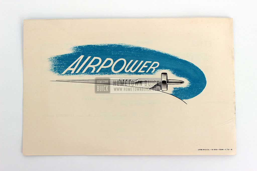 1952 Buick Airpower Brochure 05
