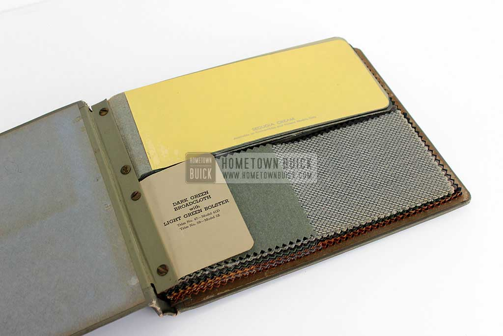 1952 Buick Colors & Fabrics Book 05