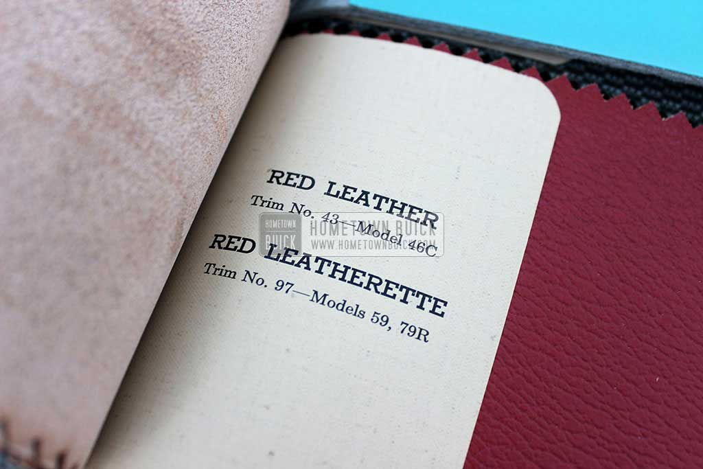 1952 Buick Colors & Fabrics Book 09
