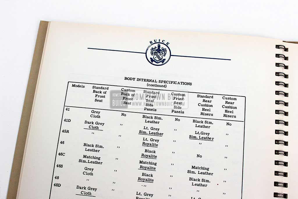 1952 Buick Engineering Data Book 13