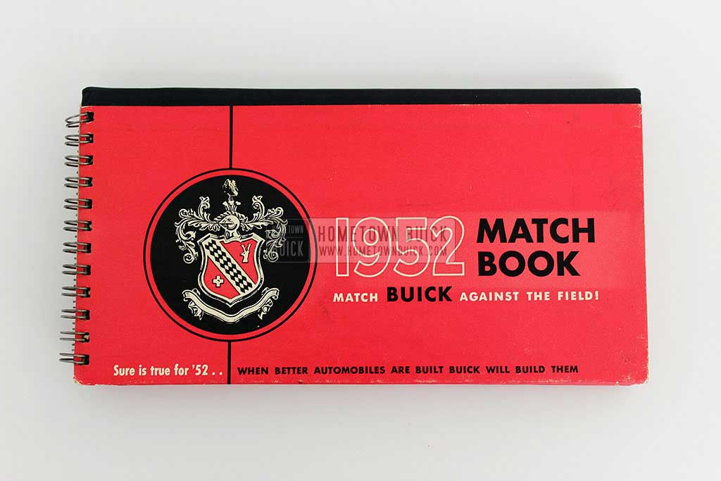 1952 Buick Match Book 02