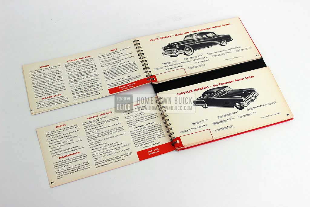 1952 Buick Match Book 06
