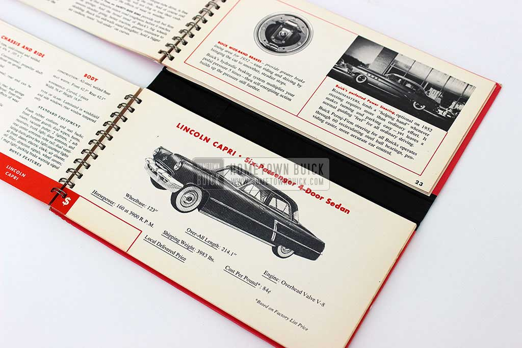 1952 Buick Match Book 10