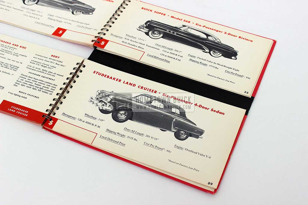1952 Buick Match Book 13